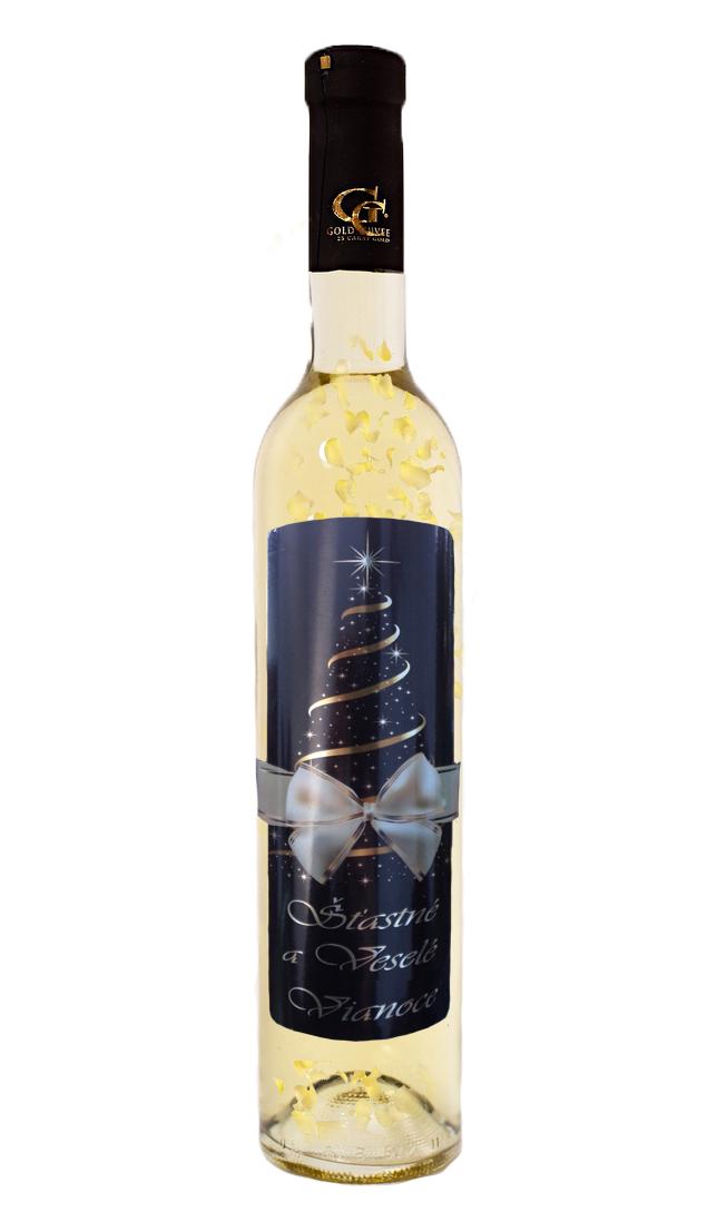 0,5 L Gold Cuvee víno so zlatom Vianočné želanie
